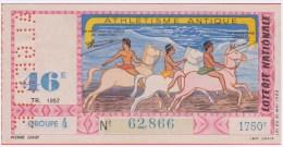 Loterie Nationale 1957 - 46 ème Tr. - Entier De 1.750 Fr. - Athlétisme Antique - Billetes De Lotería