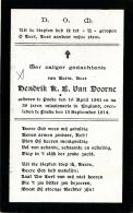 DOODSPRENTJE -  MISSIONARIS HENDRIK VAN DOORNE - POEKE 1841 - POEKE 1914 - Images Religieuses
