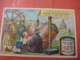 1 Postcard YAK + 40 Chromo Lithos TIBET Explorer Etnic - Thibétan Dahlia Lama Sven Hédin Lhassa Yak VERY GOOD - Chocolat