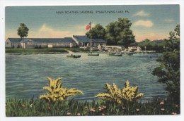 PA ~ Pymatuning Lake Boat Landing LINESVILLE Pennsylvania C1940 Crawford County - United States