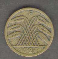 GERMANIA 5 RENTENPFENNIG 1924 - [ 3] 1918-1933 : Repubblica Di Weimar