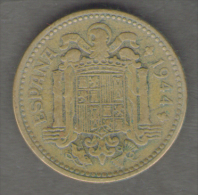 SPAGNA 1 PESETA 1944 - [ 4] 1939-1947 : Governo Nazionale