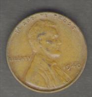 STATI UNITI CENT 1940 - 1909-1958: Lincoln, Wheat Ears Reverse