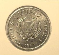 @Y@    Cyprus   1 Cent     1983    Unc  (2849) - Chypre