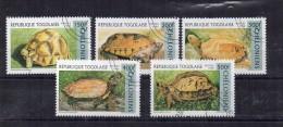 Serie Nº 1517/22 Falta 1522 Togo . - Tortues