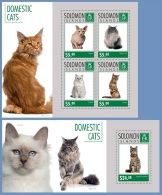 slm14712ab Solomon Is. 2014 Cats  2 s/s