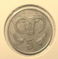 @Y@    Cyprus   5  Cent     1983      (2853) - Chypre