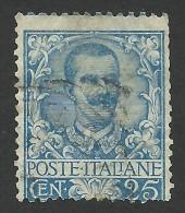 Italy, 25 C. 1901, Sc # 81, Mi # 79, Used. - 1900-44 Vittorio Emanuele III