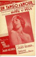PARTITION 40-60 UN TANGO D'AMOUR NELLY O'RISS VAUDEVILLE 36 VAN STALLE RÉGNIER - Musik & Instrumente