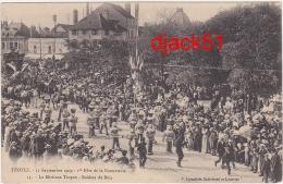 10 - TROYES - 12 Septembre 1909 - 1re Fête De La Bonneterie - Le Mirliton Troyen - Soldats De Bois  / 2 Scans - Troyes