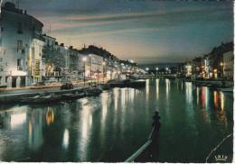Francia--Sete--1968--Les Quais,effet De Nuit--Cachet-Sete--a, Besancon - Sete (Cette)