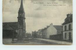 CLEGEREC - église Et Place (voir Cachet Dos Carte).