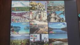 Switzerland-MULTICARDS-(set 4)-(lot 12cards)-used Card+4cards Prepiad Free - Switzerland