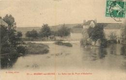 MUSSY SUR SEINE LA SEINE VUE DU PONT D'AUBERIVE - Mussy-sur-Seine