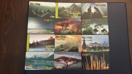 Switzerland-MULTICARDS-(set 8)-(lot 12cards)-used Card+4cards Prepiad Free - Switzerland