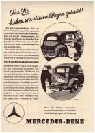 Original Werbung - 1937 - Mercedes Benz Typ 230 , Oldtimer , A4 Seite !! - KFZ