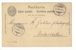11802 - Fabrique De Chocolat Suchard Neuchâtel Serrières  Clarens Interlaken 1895 - Entiers Postaux