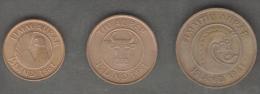 ISLANDA SERIE 3 MONETE 5 10 50 AURAR 1981 - Islandia