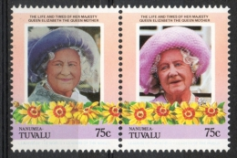 Tuvalu Nanumea 1985 - Regina Madre Elisabetta Queen Mother Elizabeth MNH ** - Tuvalu