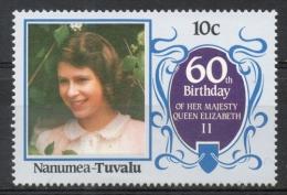 Tuvalu Nanumea 1986 - Regina Elisabetta II Queen Elizabeth II MNH ** - Tuvalu
