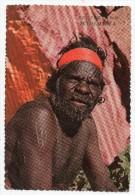 Cpsm - Australian Aboriginal Tribesman Northern Territory - Greetings From Woomera - Aborigène Australie - Océanie