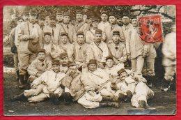 CARTE PHOTO DE MILITAIRES  (n�156 sur k�pis) exp�di�e de Meurthe et Moselle en 1913 - 2 Scans