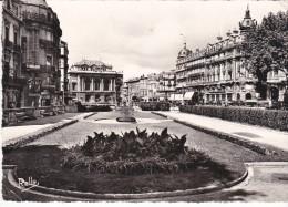 Francia--Montpellier--1958--Place De La Comedie Et Le Theatre--Ballon---Momtpelier-a, Paris - Montpellier