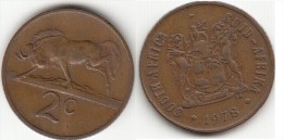 Sud Africa 2 Cents 1978 Km#83 - Used