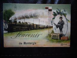 Souvenir De Montargis  Train Locomotive  D - Montargis