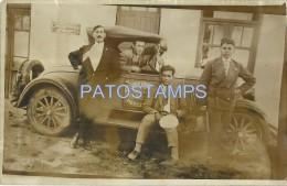 2499 URUGUAY MERCEDES MAN IN AUTOMOBILE CAR TRACTOR EL SUECO PUBLICITY POSTAL POSTCARD - Uruguay