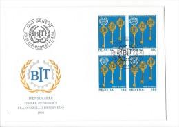 11836 - FDC Avec Bloc De 4 Timbres BIT 1200 Genève 17.05.1994 - FDC