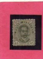 ITALIA REGNO ITALY KINGDOM 1891 - 1896 RE UMBERTO I KING CENT. 45 MNH DISCRETAMENTE CENTRATO - Mint/hinged