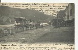 DINANT... Arrivée Du Bateau Namur- Touriste. - Dinant