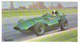Stirling Moss  -  Vanwall (1957) Grand Prix  -  Mobil Carte De Collection  -  Illustrateur Roy Nockolds - Automobile - F1