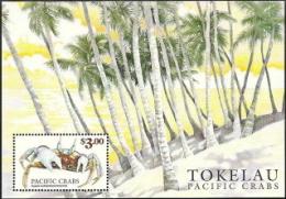 Tokelau,  Scott 2015 # 277,  Issued 1999,  S/S of 1,  MNH,  Cat $ 4.00,  Crabs