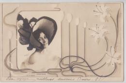 Photographe Reutlinger - Artiste DESPREZ En Chapeau - Cadre Art Nouveau - 10e Série N°8 - Voorstellingen