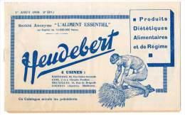 Livret Heudebert, Produits Diététiques Alimentaires De Régime (liste Des Produits Vendus) - Gastronomie