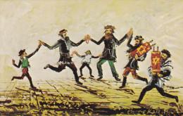 ARTIST Morris Katz, Jewish Theme Postcard; Simchas Torah, 1972 - Jewish