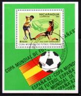 Nicaragua - Feuillet Coupe Du Monde De Football Espagne 1982. - Nicaragua
