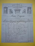 Facture Illustrée Louis Cayzac Tapissier à Montpellier 1890 - Frankrijk