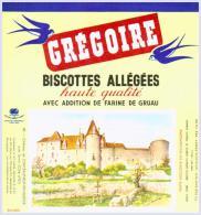 GREGOIRE Biscottes Château De Châteauneuf En Auxois état Aussi Neuf Qu'au Sortir De L'imprimerie - Biscottes