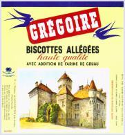 GREGOIRE  Château De MONTROTTIER   état Aussi Neuf Qu'au Sortir De L'imprimerie - Biscottes
