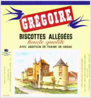 Biscottes   GREGOIRE  Manoir De NOLONGUES   état Aussi Neuf Qu'au Sortir De L'imprimerie - Biscottes