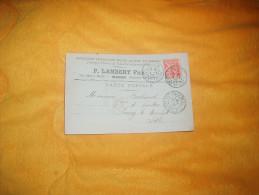 LETTRE CARTE POSTALE DE 1902. / P. LAMBERT FILS ARTICLES SPECIAUX.. / MACON POUR PARAY LE MONIAL / CACHETS + TIMBRE - Marcophilie (Lettres)