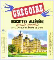 Biscottes   GREGOIRE Château De  VIZILLE    état Aussi Neuf Qu'au Sortir De L'imprimerie - Biscottes