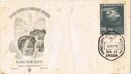 11764. Carta F.D.C. Bunos Aires (Argentina) 1956. Paralisis Infantil, Medicina - FDC
