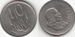 Sud Africa 10 Cents 1965 (Afrikaans Legend-SUD-AFRIKA) Km#68.2 Used - Sud Africa