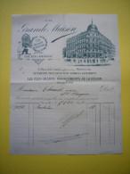 Facture Illustrée A La Grande Maison Vêtements Pour Hommes  à Montpellier 1895 - Textile & Vestimentaire