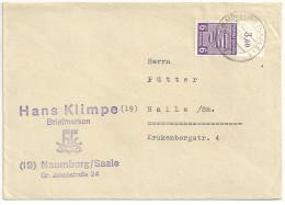 Deutschland SBZ Provinz Sachsen, Mi 69 X B, November 1945 Naumburg (Saale) 6 Pf Oben Ungezähnt Mit Rand - Zona Soviética