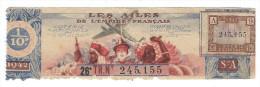Cambodge Apsara Loterie Nationale France Empire Français APSARA 1942  Voir 2 Scans TB 150 X 45 Mm - Billets De Loterie